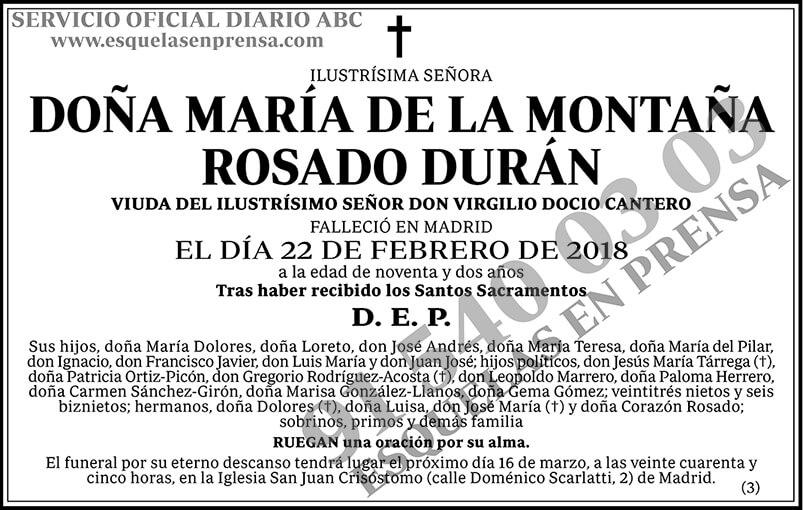 María de la Montaña Rosado Durán